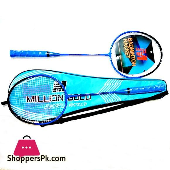 Million Gold Badminton Racket Pair