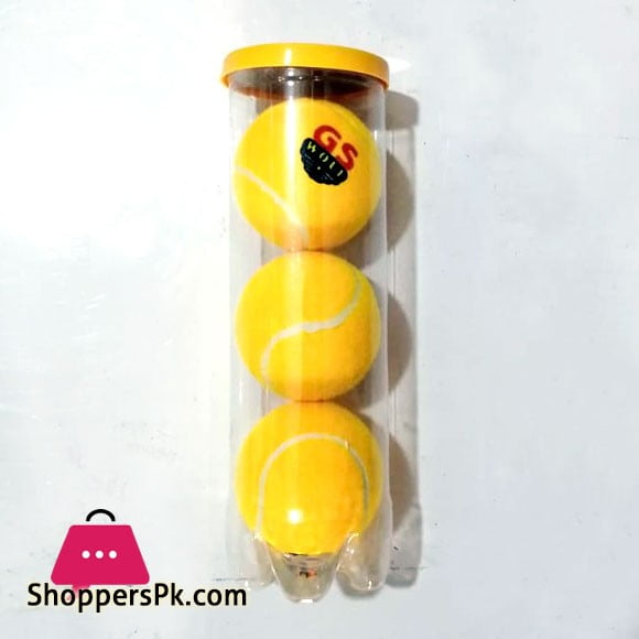 Pack Of 3 Balls Cricket Tennis Ball Yellow