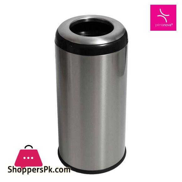Primanova Lima Stainless Steel Dustbin Half Cover M-E24-K0630 Liter Turkey Made