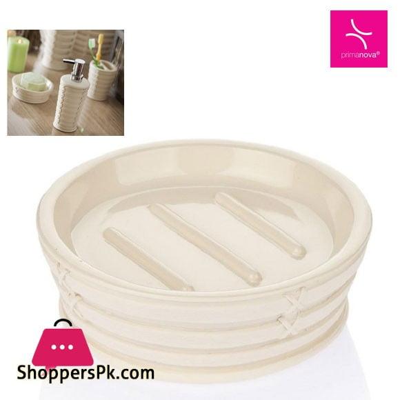 Primanova Palm Beige Break-Resistant Resin Material Soap Dish Turkey Made D-15921