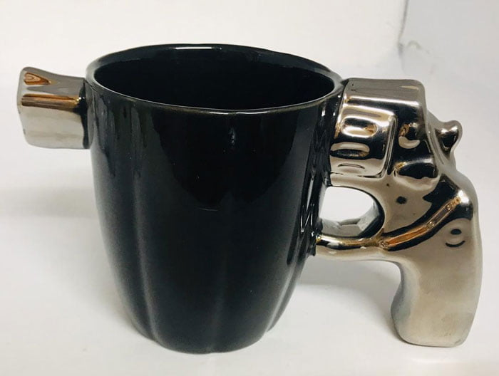 Revolver Gun Mug Ceramic 400 ML