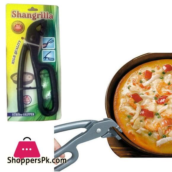 Shangrilla Heavy Duty Pizza Pan Gripper, Cast Aluminum Anti Scald Baking Pan Gripper