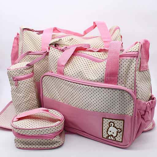 BABY BAG 4PCS SET PINK DOT M&B