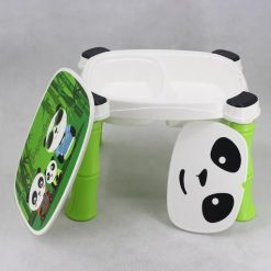 PLASTIC TABLE CHAIR PANDA GREEN 8006