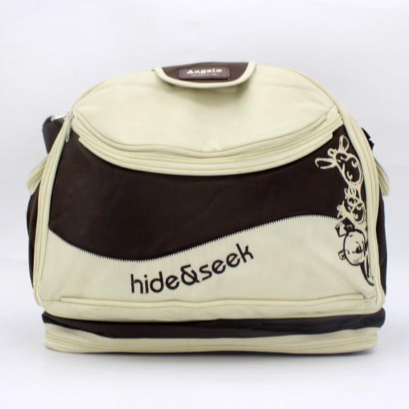 BABY BAG ANGELA HIDE & SEEK RED & BROWN 8836