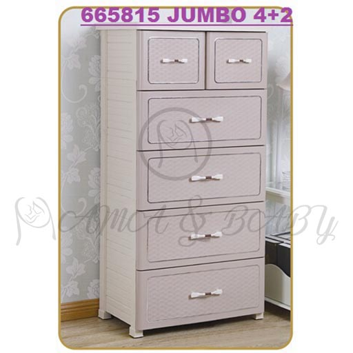 4+2 JUMBO DRAWERS ALPACA ASH 665815