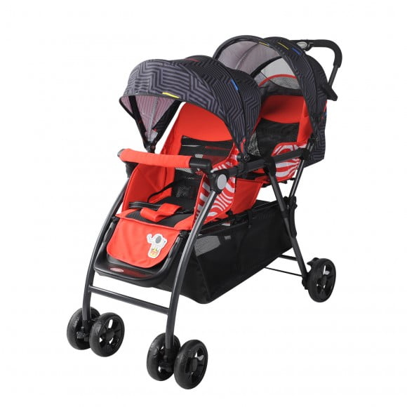 RED DOUBLE STROLLER 705-169