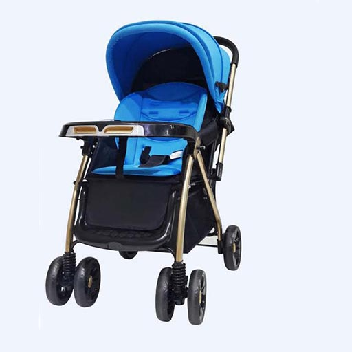 BABY STROLLER (BLUE)TRAVEL COMFORTABLY C2-262