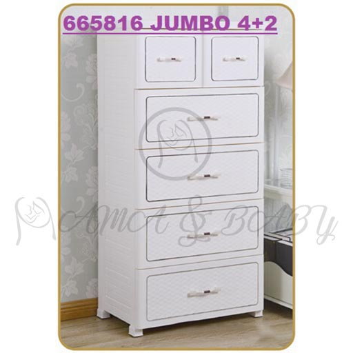 4+2 JUMBO DRAWERS PEARL WHITE 665816