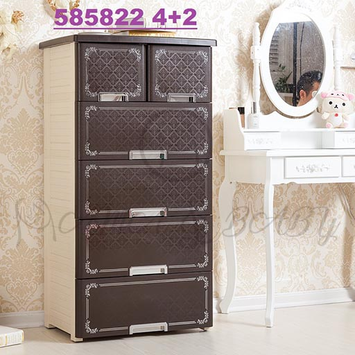 4+2 DRAWERS COFFEE BROWN 585822