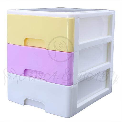 3LAYER MINI DRAWERS WITH HANDLE MULTI COLOUR HD17206-in-Pakistan