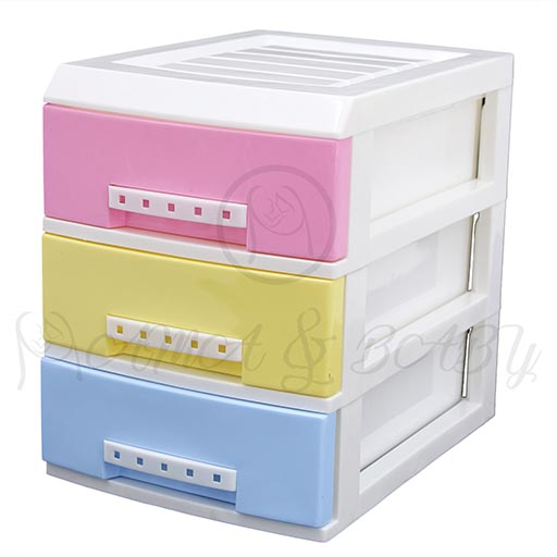 3LAYER MINI DRAWERS WITH HANDLE MULTI COLOUR HD172337-in-Pakistan