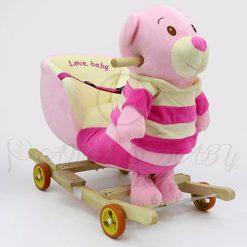 CRS 2345-14 PINK BEAR ROCKING SEAT 21-7