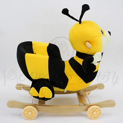 ROCKING HONEY BEE WITH WHEEL DRY-8117