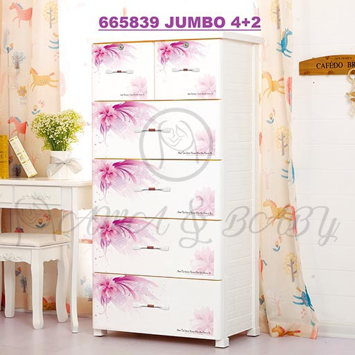 4+2 JUMBO DRAWERS ROMANTIC FLOWER 665839-in-Pakistan