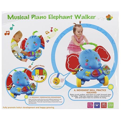 MUSICAL PIANO ELEPHANT WALKER S919 ACTIVITY WALKER