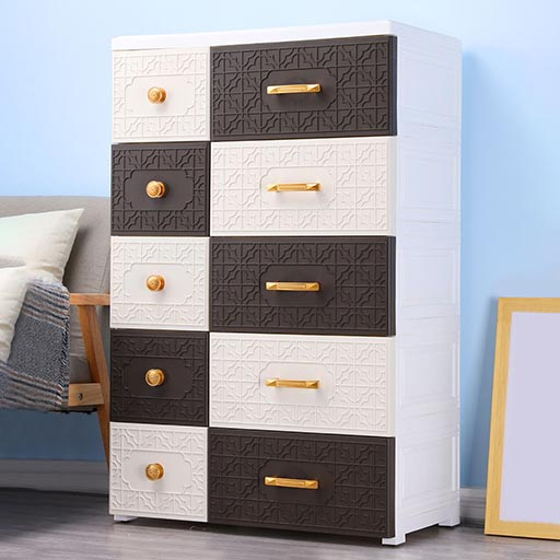 5+5 DRAWERS NEW CHINESE STYLE – COFFEE BROWN 675328