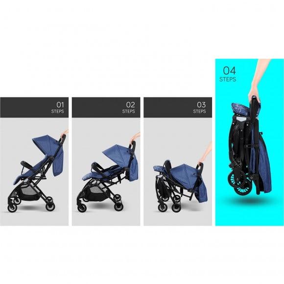 DENIM BLUE SEA HORSE EXCLUSIVE STROLLER S1-291