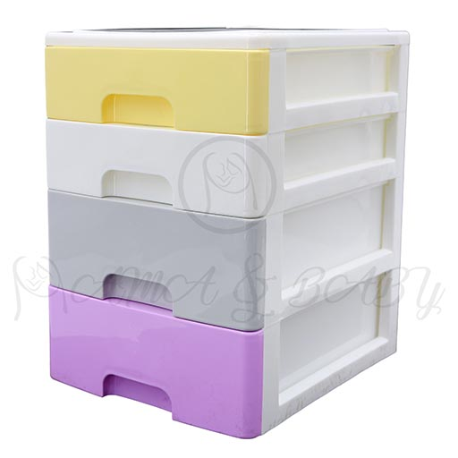 4LAYER MINI DRAWERS WITH HANDLE MULTI COLOUR HD17205-in-Pakistan