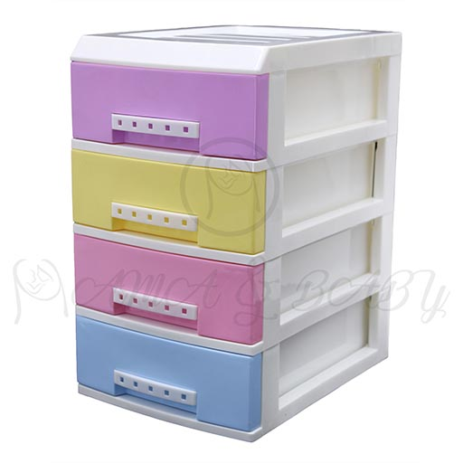 4LAYER MINI DRAWERS WITH HANDLE MULTI COLOUR HD172338-in-Pakistan