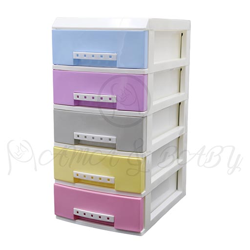 5LAYER MINI DRAWERS WITH HANDLE MULTI COLOUR HD172339-in-Pakistan