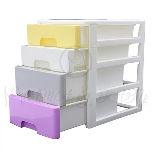 4LAYER MINI DRAWERS WITH HANDLE MULTI COLOUR HD17205
