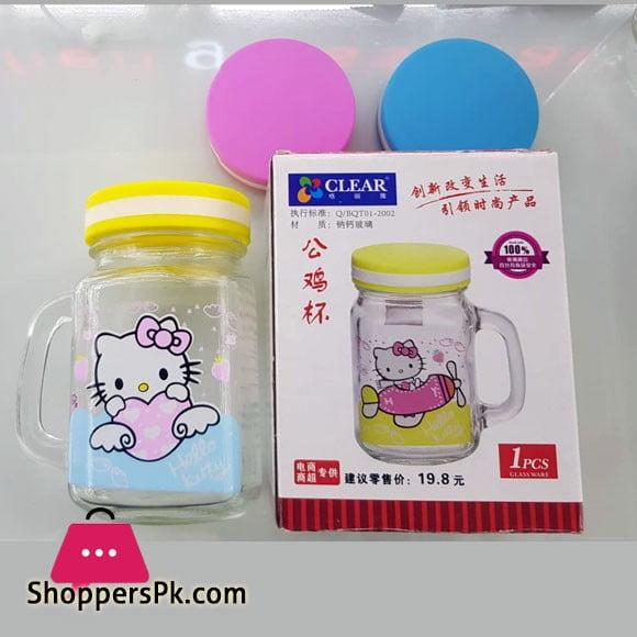Clear Glassware Hello Kitty Mason Jar BQT01-2002