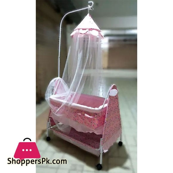 High Quality Baby Sleeping Cot Pink 877