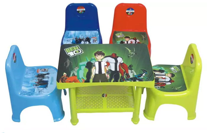 Kids Plastic Table & 2 Chairs Set