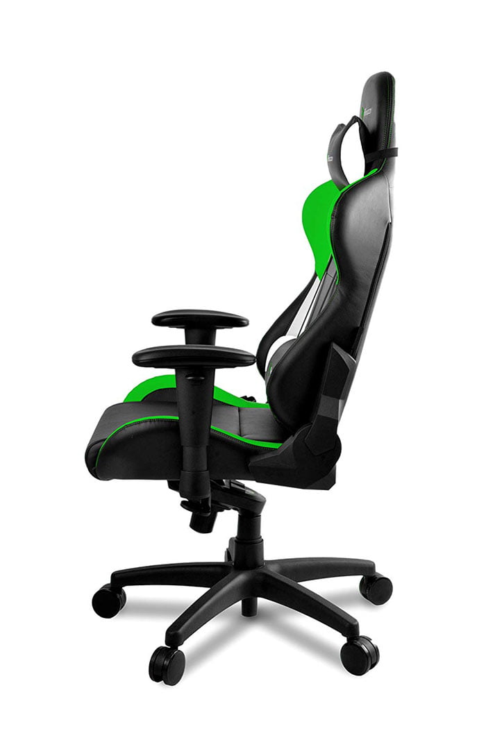 Arozzi Verona Pro V2 Premium Racing Style Gaming Chair with High Backrest, Recliner, Swivel, Tilt, Rocker and Seat Height Adjustment Green