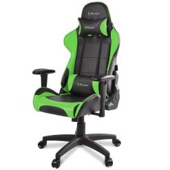 Arozzi Verona V2 Advanced Racing Style Gaming Chair with High Backrest, Recliner, Swivel, Tilt, Rocker and Seat Height Adjustment Green