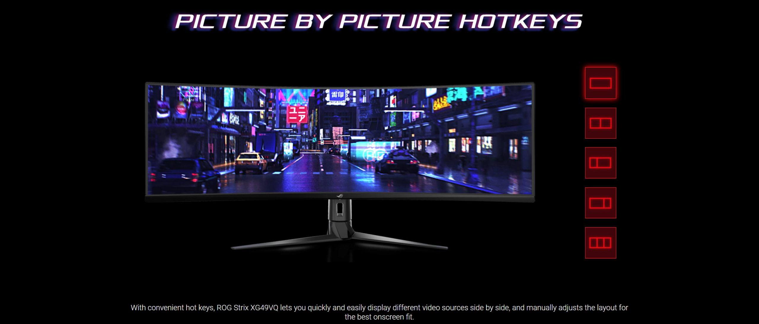 Asus ROG Strix XG49VQ 49″ Super Ultra-Wide HDR Gaming Monitor, 144Hz – New