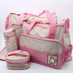 BABY BAG 4PCS SET PINK DOT M&B-in-Pakistan