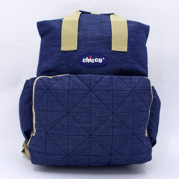 DIAPER BAG BACKPACK BLUE / BLACK CHICCO-in-Pakistan