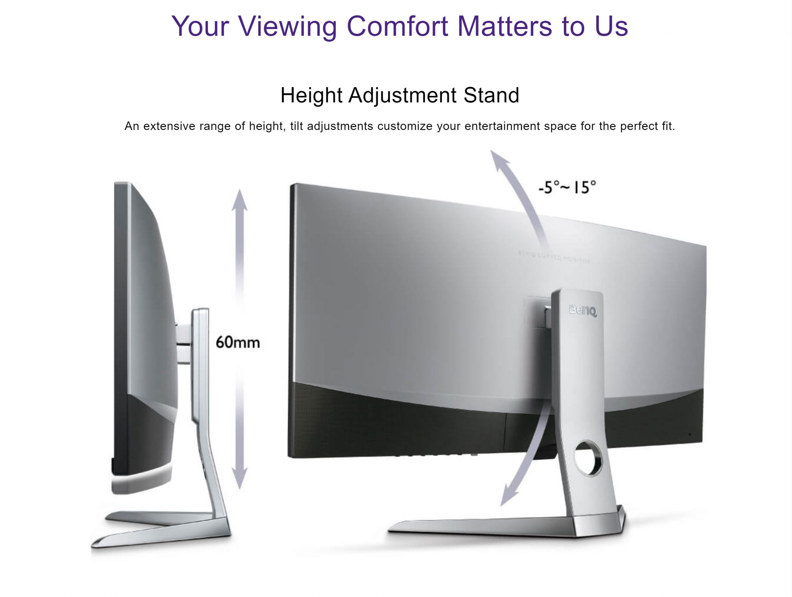 BenQ EX3501R Curved 35″ Gaming Monitor with Eye-care Technology – New