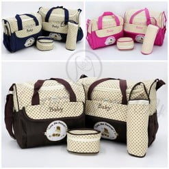 EXCLUSIVE DIAPER BAG 4PCS 8088 M&B-in-Pakistan