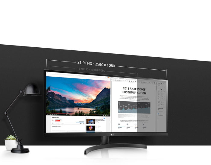 LG 34WK500-P 34inch Ultrawide WFHD 75hz IPS Monitor – Open Box