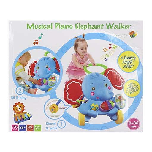 MUSICAL PIANO ELEPHANT WALKER S919 ACTIVITY WALKER-in-Pakistan