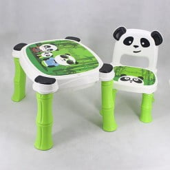 PLASTIC TABLE CHAIR PANDA GREEN 8006-in-Pakistan