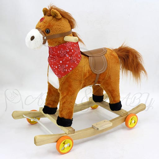 ROCKING HORSE WITH WHEEL SMALL 011+M-in-Pakistan