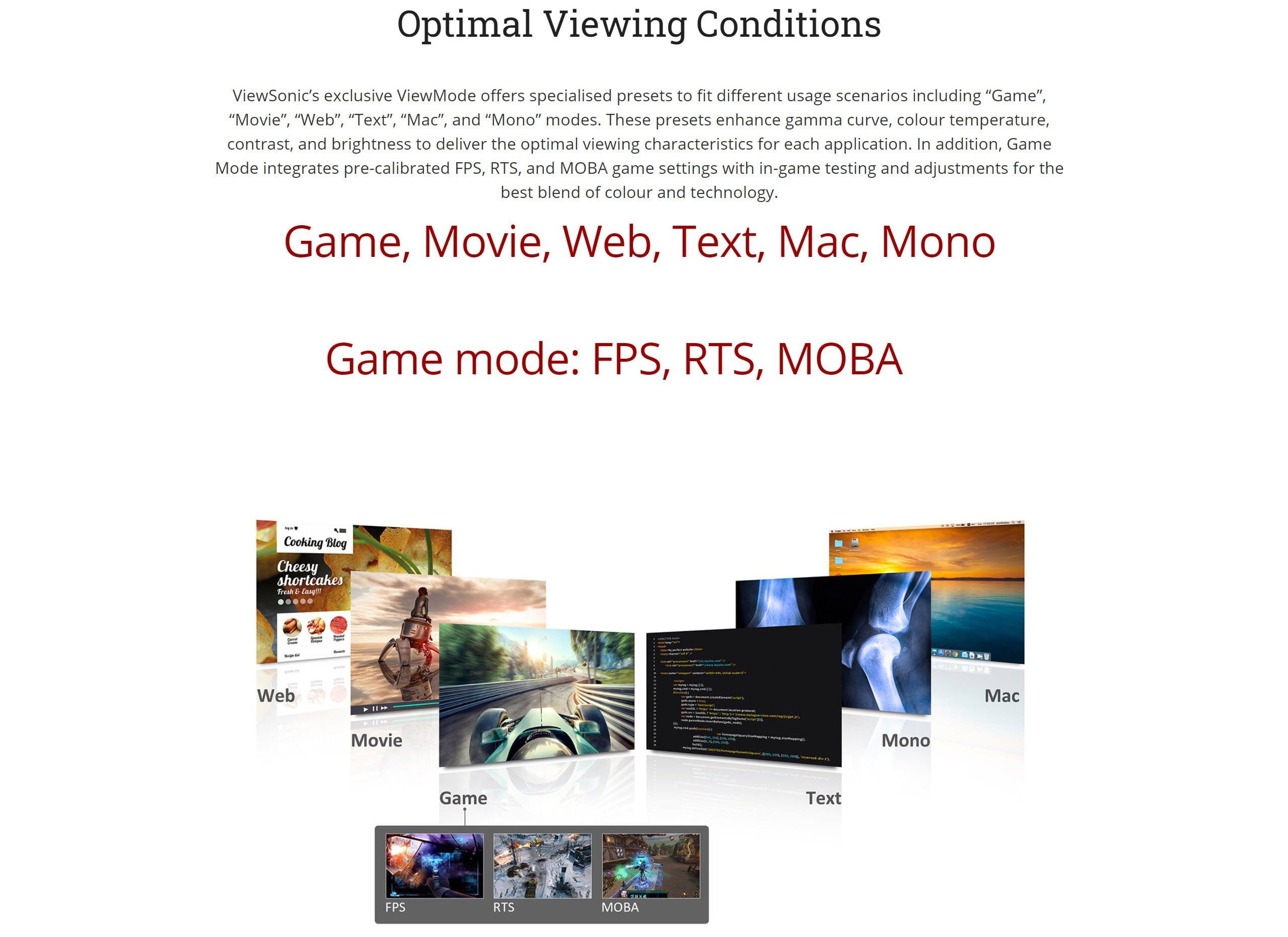 "ViewSonic VX2458-mhd 24″ LED Display, TN Panel FHD, 23.6"" Viewable, 144HZ Refresh Rate – New"