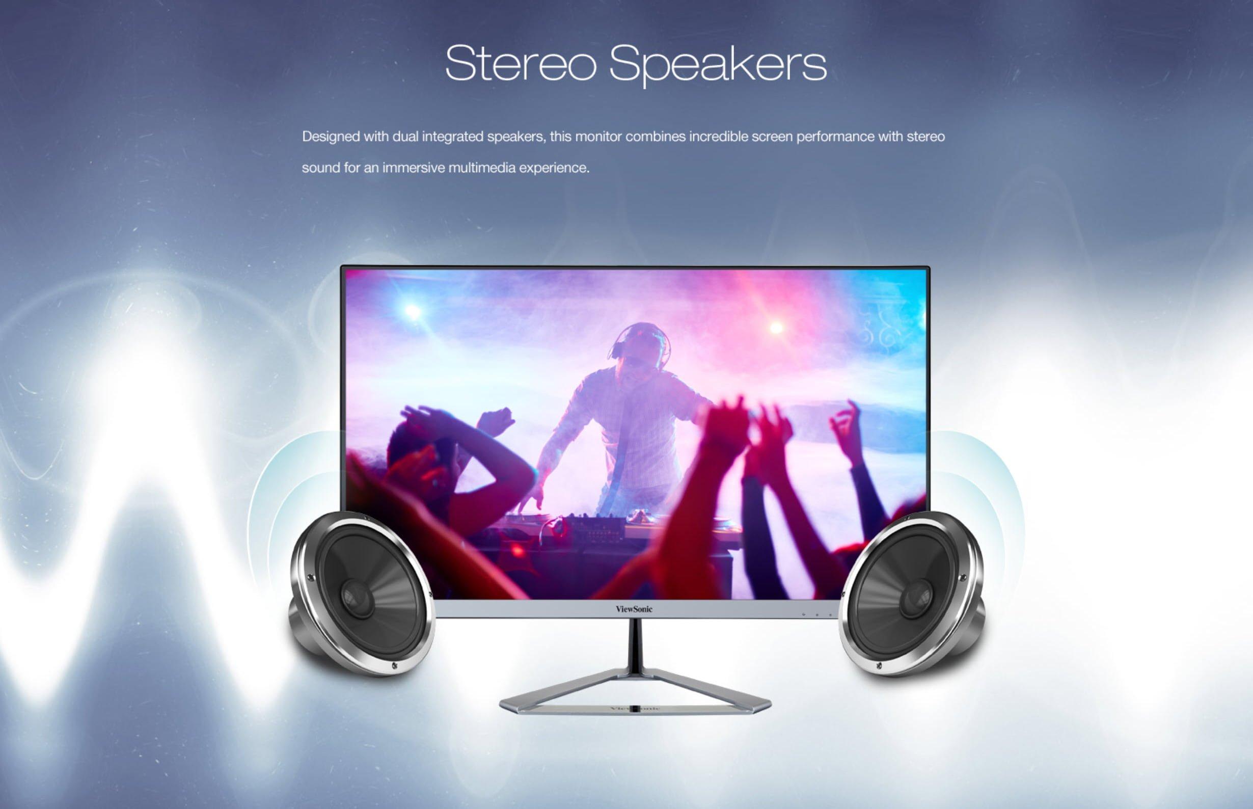 ViewSonic VX2476-smhd 24″ Full HD Ultra-Slim Frameless Monitor – New