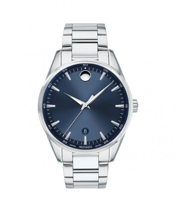 Movado Stratus Quartz Blue Dial Men's Watch 0607244