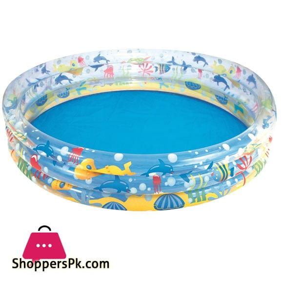 Bestway Deep Dive 3-Ring Pool For Kids Swimming Pool 5 Feet x 12 Inch #51004
