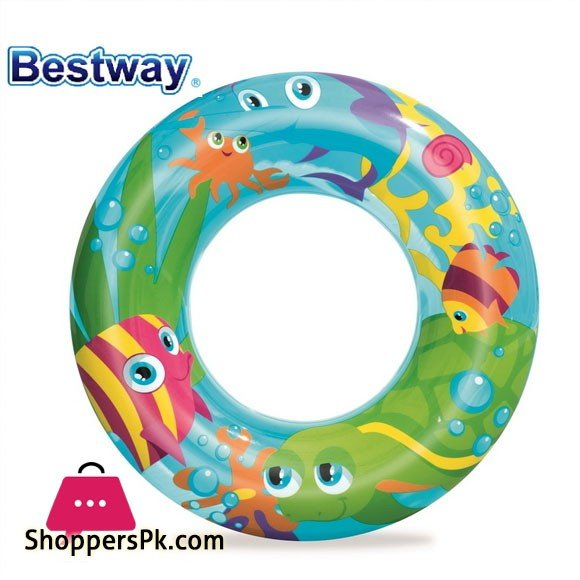 Bestway Designer Print Swim Ring 22Inch For 3-6 Years Old Kids #36013