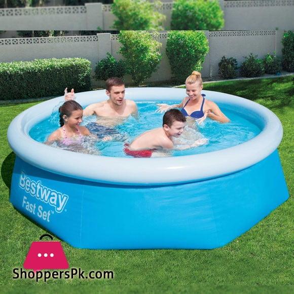 Bestway Fast Set Family Swimming Pool 8 Feet x 26 Inch #57265