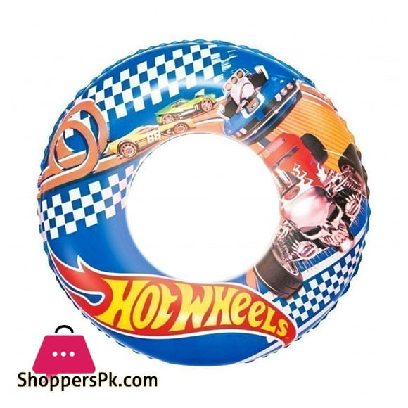Bestway Hot Wheels 22 Inch Swim Ring 3 to 6 Years Kids #93401