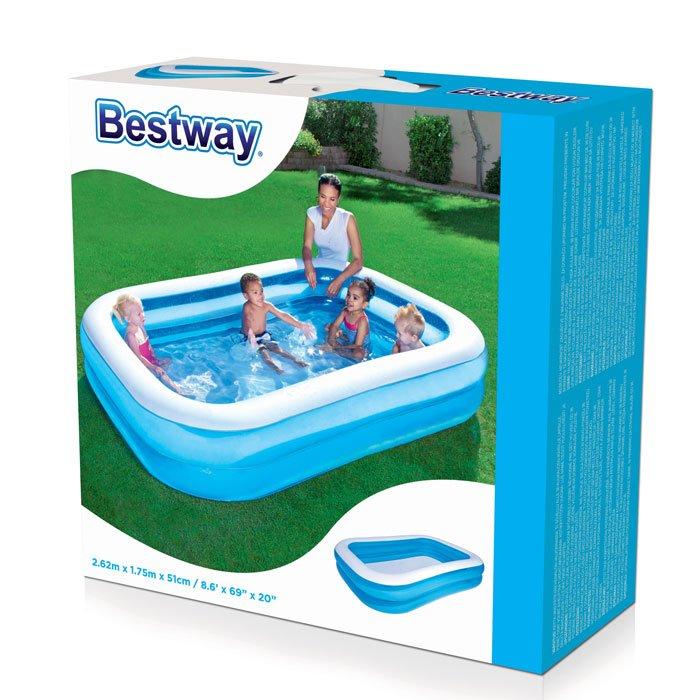 Bestway Kids Inflatable Rectangular Family Lounge Pool #54006
