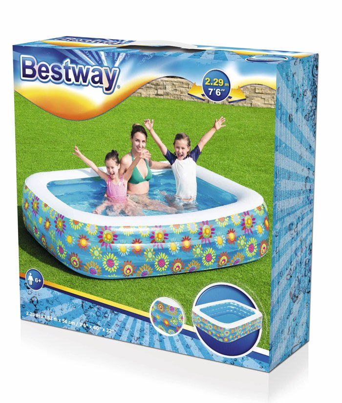Bestway Rectangular Inflatable Pool for Kid 7.5 Feet #54120