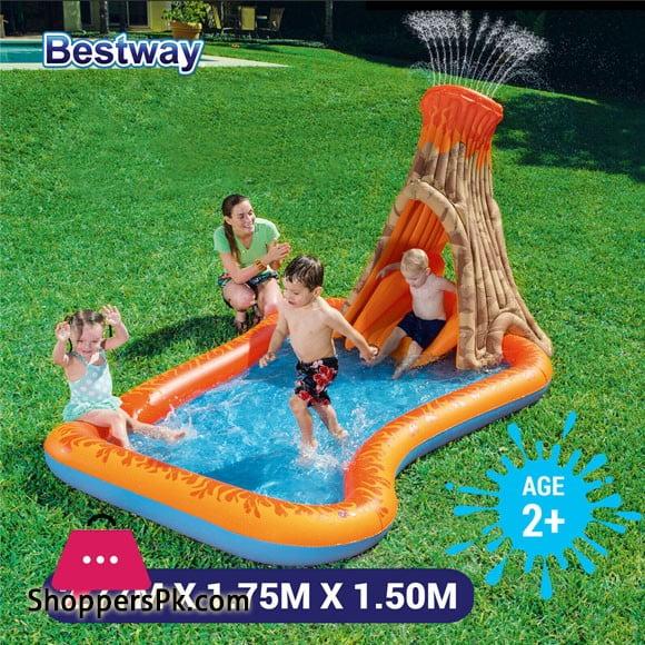 Bestway Volcano Splash Island Paddling Pool 277 x 175 x 150 cm #53063